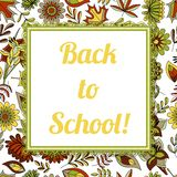 Back to school background with frame royalty free illustration