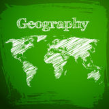 Back to school background. Geography Royalty Free Stock Photography
