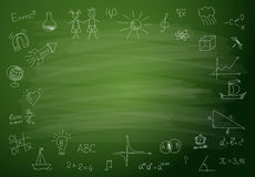 Back to school background. Green blackboard royalty free illustration
