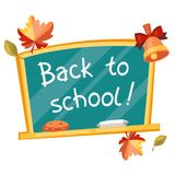 Back to school background with green chalkboard Royalty Free Stock Photos