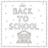 Back to school background- hand drawn text. Coloring page Stock Images