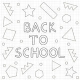 Back to school background- hand drawn text, geometric figures. C Royalty Free Stock Photography