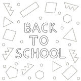 Back to school background- hand drawn text, geometric figures.  Royalty Free Stock Photo