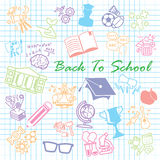 Back to School background,icon set Stock Image