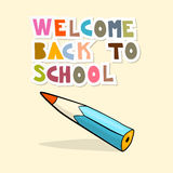 Back to School Background with Pencil Stock Photography