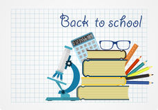 Back to school. Background with place for your text. Stock Images