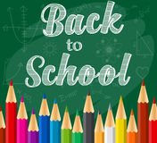 Back to school background with Rainbow pencils Royalty Free Stock Photo