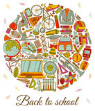 Back to school background. Round shape Stock Image