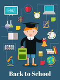 Back to school.  background with school supplies Royalty Free Stock Photography