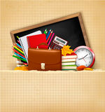 Back to school. Background with school supplies Stock Image