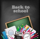 Back to school background with school supplies. Stock Image