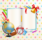 Back to school background with stationery Royalty Free Stock Photo