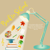 Back to school background with stationery and items Royalty Free Stock Image