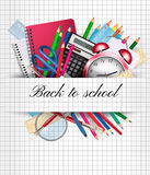 Back to school. Background with supplies. Royalty Free Stock Photos