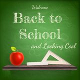 Back to school background template. EPS 10 Stock Images