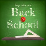 Back to school background template. EPS 10 Stock Photo