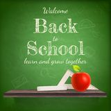Back to school background template. EPS 10 Royalty Free Stock Images