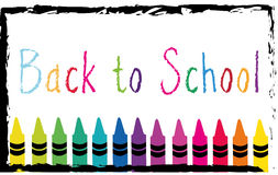 Back to school. Background with text on it Royalty Free Stock Image