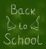 Back to school background with text and bells Royalty Free Stock Image