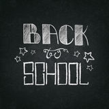 Back to school. Background. The texture of the chalk board. The image can be used for advertising stationery. The first of September. Back to school lettering Stock Photo