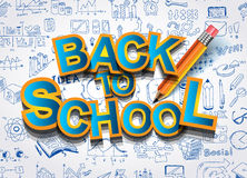 Back to School Background to use for advertiments, as book cover and more Royalty Free Stock Images