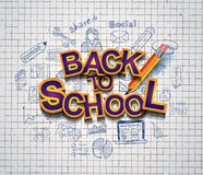 Back to School Background to use for advertiments, as book cover and more Stock Photos