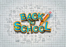 Back to School Background to use for advertiments, as book cover and more Royalty Free Stock Photos