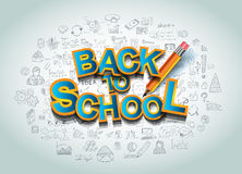 Back to School Background to use for your layouts Royalty Free Stock Image