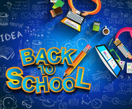 Back to School Background to use for your layouts Stock Images