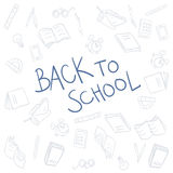 Back to school background vector Royalty Free Stock Photos