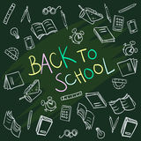 Back to school background vector Stock Photo