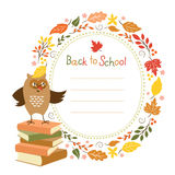 Back to school background, vector illustration Stock Images