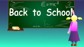 Back to school background vector Stock Images