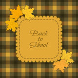 Back to school background. Vector illustration Royalty Free Illustration