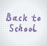 Back to school background, vector illustration. Back to school background, vector illustration Stock Photography