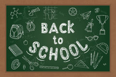 Back to school background royalty free illustration