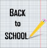 Back to school background, vector illustration. Abstract illustration Eps10. Graphic background Royalty Free Stock Images