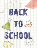 Back to school background Royalty Free Stock Image