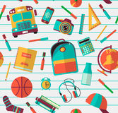 Back to school background. Vector Illustration Royalty Free Stock Photos