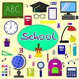 Back to school background, vector illustration. Royalty Free Stock Image