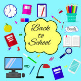 Back to school background, vector illustration. Royalty Free Stock Photos