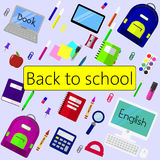 Back to school background, vector illustration. Stock Photography