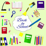 Back to school background, vector illustration. Royalty Free Stock Photo