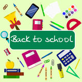 Back to school background, vector illustration. Stock Photo