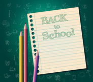 Back to school background vector  template Stock Photo