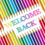 Back to school background with welcome back text Stock Image