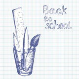 Back to school background 5 Royalty Free Stock Photography
