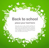 Back To School - Background With Education Icons Royalty Free Stock Image