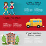 Back to school backgrounds set Stock Images