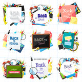 Back to school backgrounds Stock Image